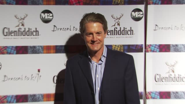 kyle maclachlan at the 8th annual 'dressed to kilt' charity fashion show at new york ny - dressed to kilt stock videos & royalty-free footage