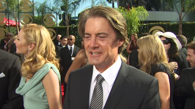 kyle maclachlan on experiencing the emmys at the 61st annual primetime emmy awards arrivals at los angeles ca - annual primetime emmy awards stock-videos und b-roll-filmmaterial
