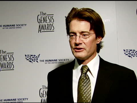 Kyle MacLachlan on the event his pets the bond of animal advocates animal rights issues and animal issues and politics at the 2008 Genesis Awards at...