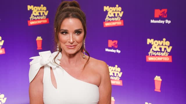 kyle richards at the 2021 mtv movie & tv awards: unscripted - backstage on may 17, 2021. - mtv1 stock videos & royalty-free footage