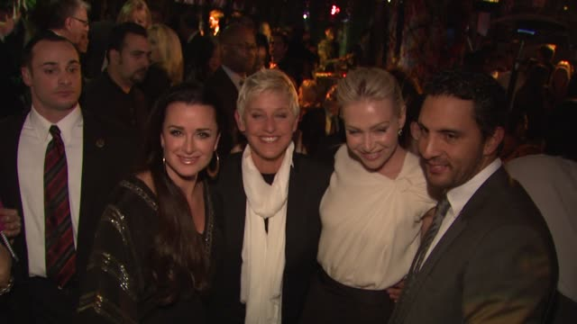 Kyle Richards Ellen DeGeneres Portia Del Rossi at the COVERGIRL Cosmetics' 50th Anniversary Party at West Hollywood CA