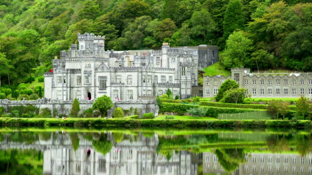kylemore abbey in connemara district in ireland - ireland stock videos and b-roll footage