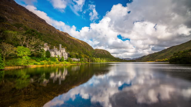 Kylemore Abbey in Ireland - Time Lapse