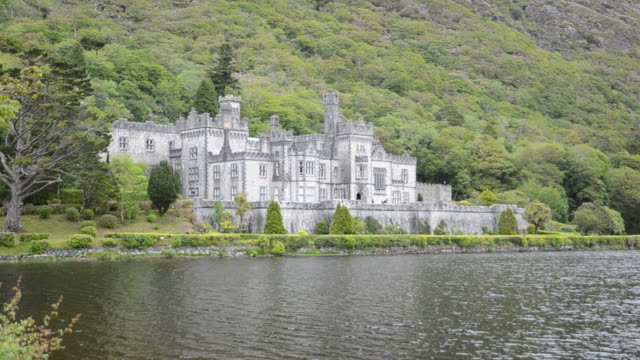 kylemore abbey in ireland - history stock videos & royalty-free footage