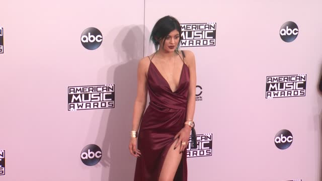 kylie jenner at the 2014 american music awards at nokia theatre la live on november 23 2014 in los angeles california - 2014 stock videos & royalty-free footage