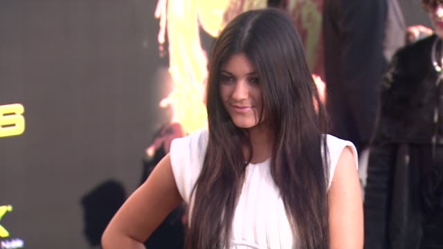 kylie jenner at the hunger games world premiere on 3/12/2012 in los angeles ca - 2012 stock videos & royalty-free footage