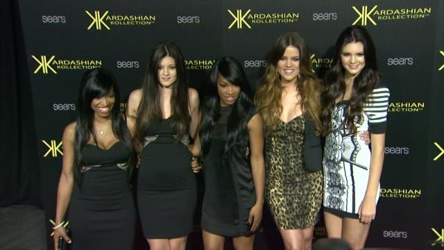 Kylie Jenner Khloe Kardashian Kendall Jenner at the Kardashian Kollection Launch Party at Los Angeles CA