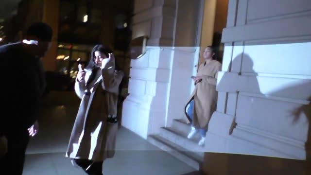 kylie jenner leave nobu restaurant in manhattan in celebrity sightings in new york - nobu restaurants stock videos & royalty-free footage