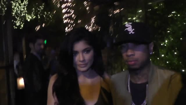 Kylie Jenner Tyga have dinner at Il Cielo Restaurant in Celebrity Sightings in Los Angeles