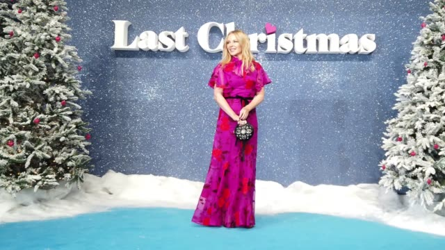 """kylie minogue attends the """"last christmas"""" uk premiere at bfi southbank on november 11, 2019 in london, england. - emma thompson stock videos & royalty-free footage"""