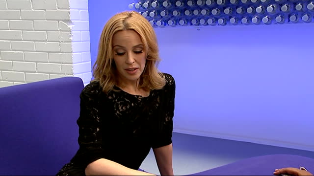 london int minogue interview sot als ice bucket challenge has been sensation - ice bucket stock videos and b-roll footage