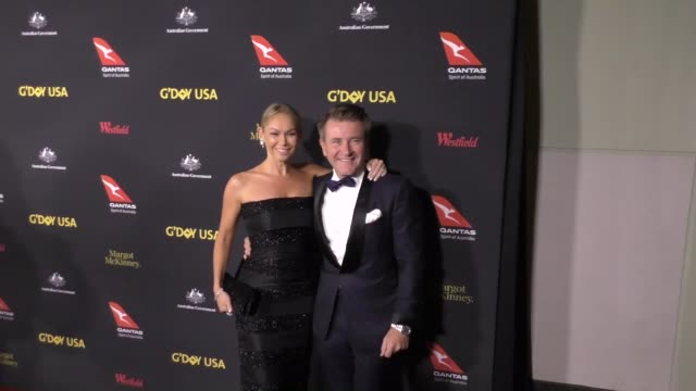 kym johnson & robert herjavec at the 2017 g'day black tie gala on january 28, 2017 in hollywood, california. - gala stock videos & royalty-free footage