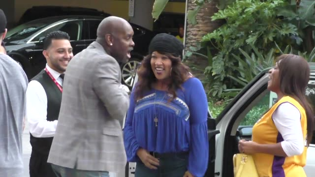 Kym Whitley arriving to see Kobe Bryant's final game at Staples Center in Los Angeles Celebrity Sightings on April 13 2016 in Los Angeles California