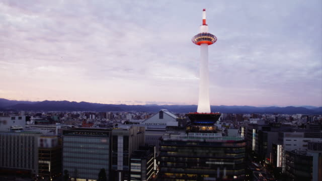 kyoto skyline - kyoto prefecture stock videos and b-roll footage