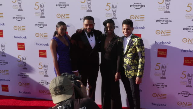 kyra anderson anthony anderson alvina stewart and nathan anderson at the 50th naacp image awards at dolby theatre on march 30 2019 in hollywood... - naacp stock videos & royalty-free footage
