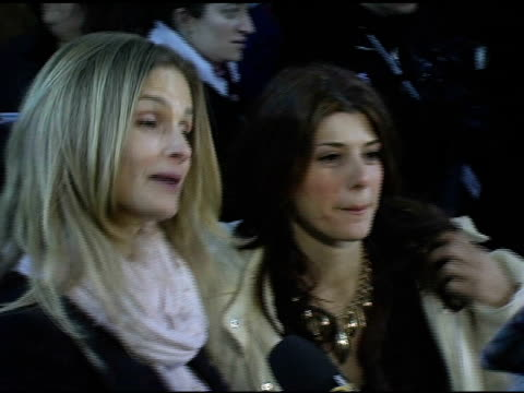 kyra sedegwick and marisa tomei at the 2005 sundamce film festival 'loverboy' premiere at the eccles theatre in park city utah on january 24 2005 - marisa tomei stock videos & royalty-free footage