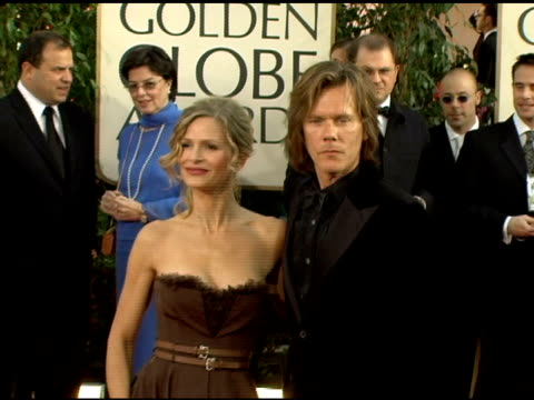 Kyra Sedgwick and Kevin Bacon at the 2006 Golden Globe Awards Arrivals at the Beverly Hilton in Beverly Hills California on January 16 2006