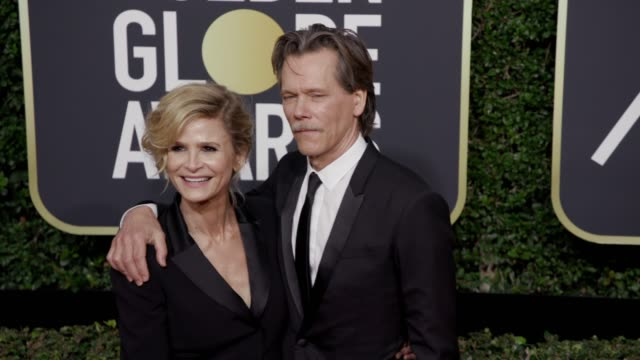 Kyra Sedgwick and Kevin Bacon at the 75th Annual Golden Globe Awards at The Beverly Hilton Hotel on January 07 2018 in Beverly Hills California