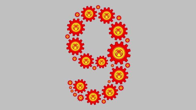 kirgisisch nummer neun - zahl 9 stock-videos und b-roll-filmmaterial