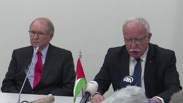 la autoridad palestina pidio el martes a la corte penal internacional iniciar una investigacion inmediata por presuntos crimenes de guerra contra los... - palestina stock videos and b-roll footage