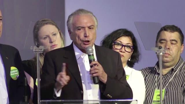la camara de diputados de brasil recibio el jueves la acusacion por corrupcion contra el presidente michel temer - congreso stock videos and b-roll footage