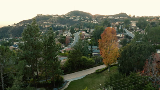 La Canada and Glendale Urban Sprawl, California - Drone Shot