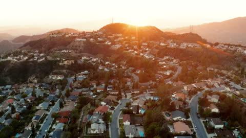 la canada and glendale urban sprawl, california - drone shot - b roll stock videos & royalty-free footage