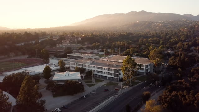 la canada high school aerial shot - high school stock videos & royalty-free footage