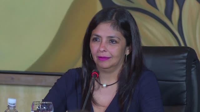 La canciller venezolana Delcy Rodríguez rechazo el viernes la declaración injerencista del gobierno de Espana que considero la masiva manifestacion...