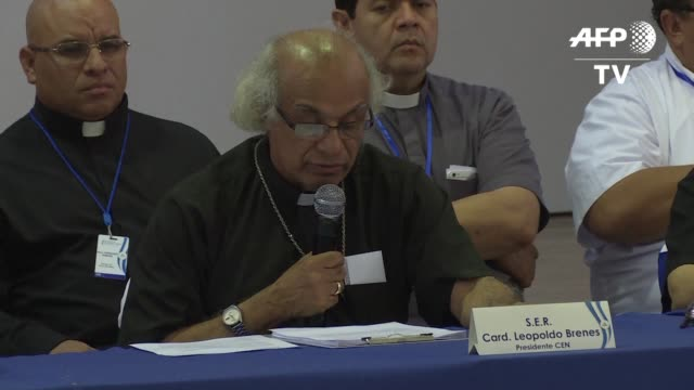 la conferencia episcopal de nicaragua suspendio el miercoles el dialogo nacional entre el gobierno y los opositores para poner fin a la crisis... - politica stock videos & royalty-free footage