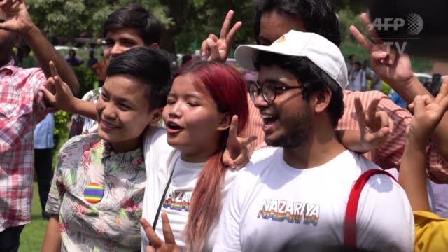la corte suprema de india despenalizo el jueves la homosexualidad un paso historico hacia la igualdad de los derechos de los ciudadanos en el segundo... - igualdad stock videos and b-roll footage