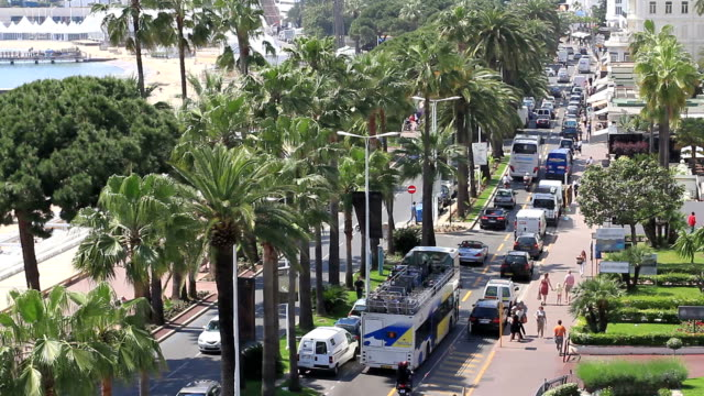la croisette day - promenade stock videos & royalty-free footage