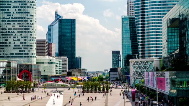 vidéos et rushes de la défense, paris - quartier financier