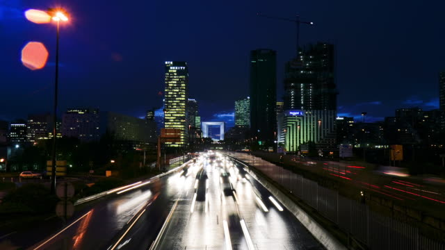 la defense traffic 1 - tail light stock videos & royalty-free footage