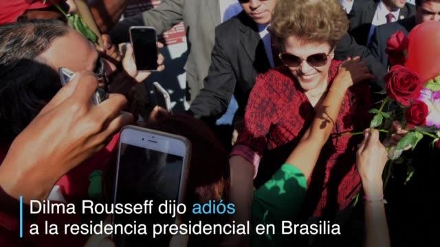 la destituida presidenta de brasil dejo por ultima la que fue su residencia por cinco anos en el palacio de la alvorada de la capital para... - alegre stock-videos und b-roll-filmmaterial