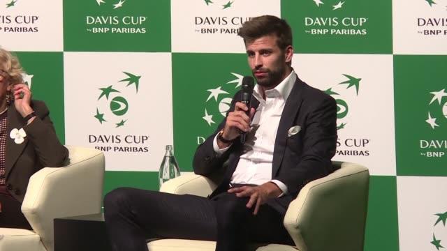 La estrella del futbol Gerard Pique presento el miercoles en Madrid la nueva Copa Davis que echara a andar en 2019 a pesar de las reservas expresadas...