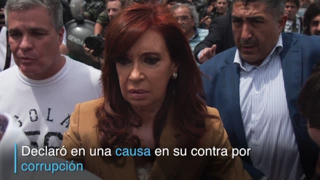La expresidenta argentina Cristina Kirchner declaro el lunes ante la justicia donde reclamo anular una causa por corrupcion en su contra y aseguro...