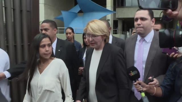 la fiscal general de venezuela luisa ortega calificada de traidora por el gobierno desafio el jueves al presidente nicolas maduro al interponer un... - desafio stock videos and b-roll footage