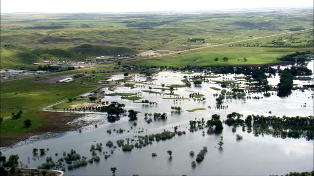 La nettare Island-Vista aerea-South Dakota, Contea di Hughes, Stati Uniti