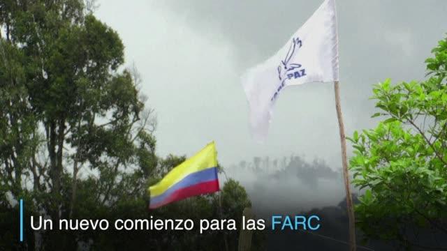 vídeos y material grabado en eventos de stock de la guerrilla farc completo su desarme en colombia en cumplimiento del acuerdo de paz firmado con el gobierno y con el objetivo de hacer política: una... - política y gobierno