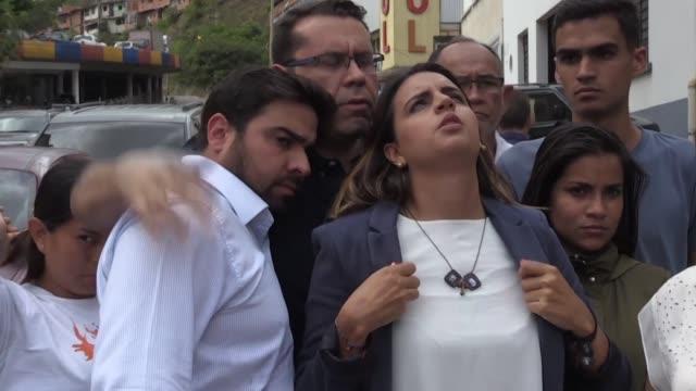 la hija del vicepresidente del parlamento de venezuela edgar zambrano denuncio el jueves que no ha tenido noticias de su padre desde que fue detenido... - hija stock videos & royalty-free footage