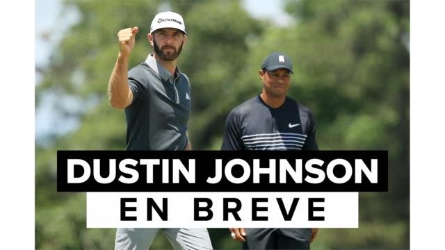 la historia en breve de dustin johnson, golfista profesional estadounidense que compite en el pga tour, novio de paulina gretzky y número uno en el... - pga stock videos & royalty-free footage