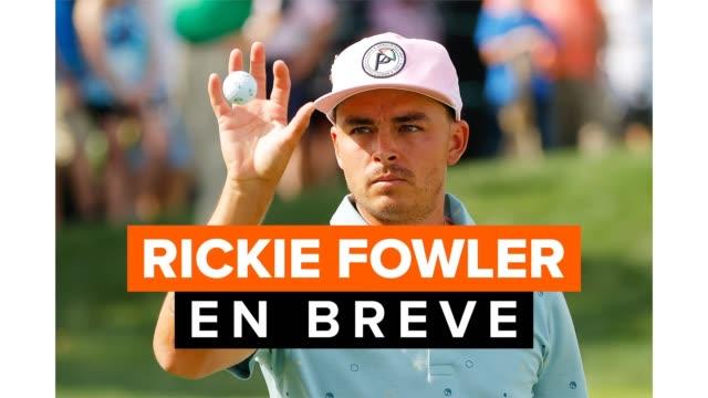 la historia en breve de ricky fowler, golfista profesional que compite en el pga tour. - pgaイベント点の映像素材/bロール
