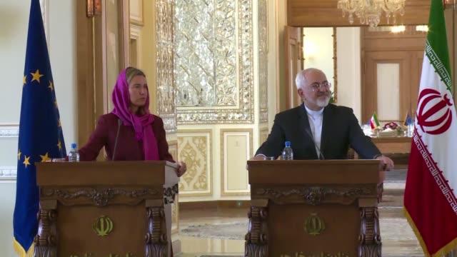 vídeos y material grabado en eventos de stock de la jefa de la diplomacia de la union europea llego este martes a teheran para hablar sobre la aplicacion del acuerdo nuclear entre iran y las grandes... - diplomacia