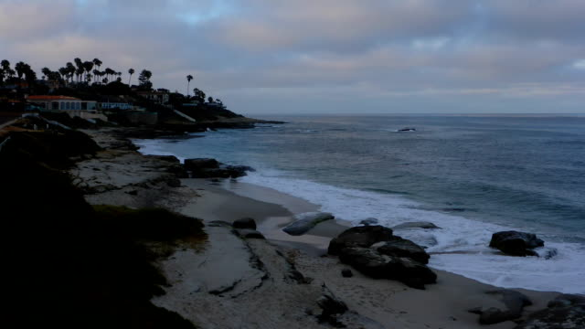 la jolla beach sunrise timelapse - cliff dwelling stock videos & royalty-free footage