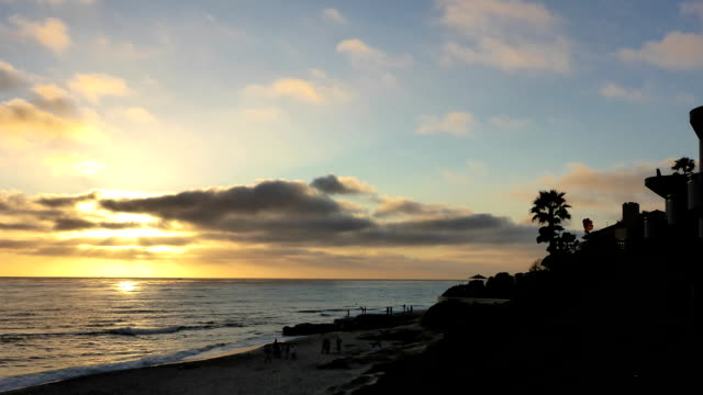 La Jolla Beach Sunset Timelapse