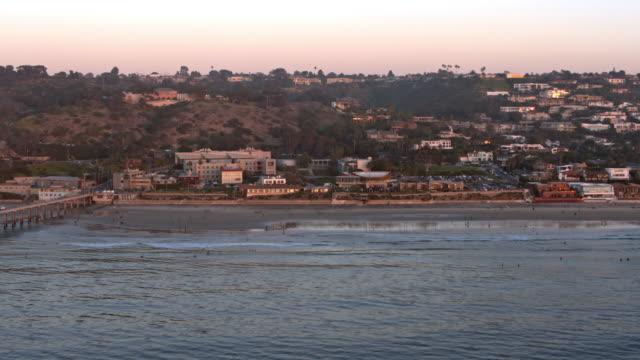 la jolla california coast beach aerial - san diego stock videos & royalty-free footage
