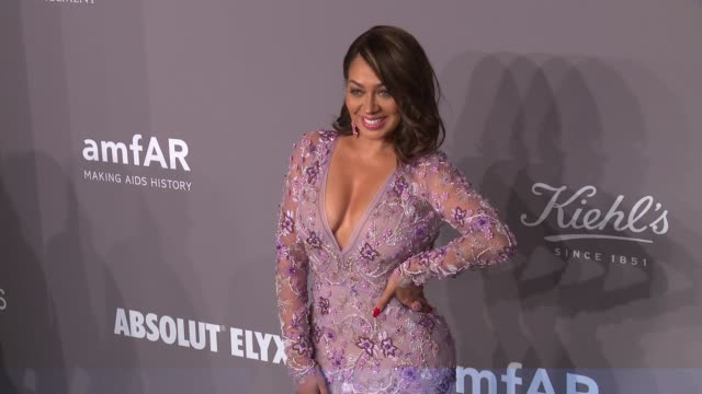 La La Anthony at the 20th Annual amfAR Gala New York at Cipriani Wall Street on February 07 2018 in New York City