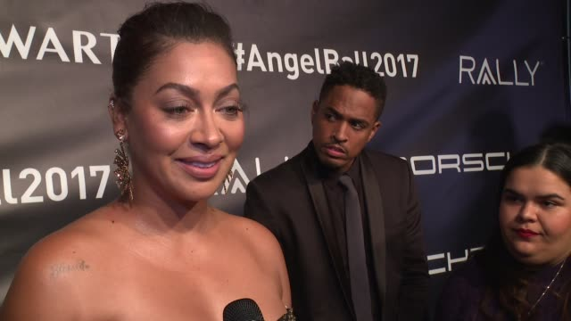 interview la la anthony talks about loving the angel ball and losing her grandmother to cancer at angel ball 2017 at cipriani wall street on october... - cipriani manhattan stock videos & royalty-free footage