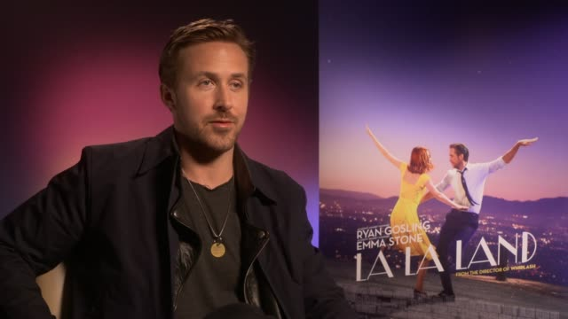 'la la land' film ryan gosling interview 'la la land' film ryan gosling interview ryan gosling interview sot on response to the film / on upcoming... - ryan gosling stock videos and b-roll footage